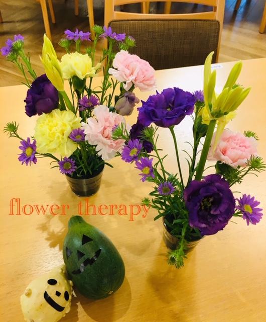 10月高齢者施設 フラワーセラピー